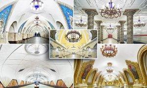 Olvídese de las estaciones de Metro sucias, y admire estas de la red subterránea de Moscú que parecen palacios espectaculares