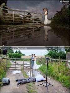 Detrás de la escena:  la realidad de la captura de la foto de la boda perfecta