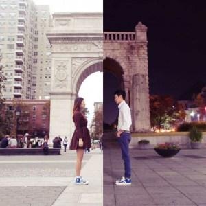 Esta pareja a pesar de la distancia ha encontrado la manera de mantenerse cerca