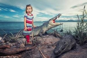 Un padre realiza divertidísimas  fotos a sus hijas con la ayuda de Photoshop y mucha imaginación