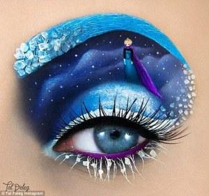 La belleza está en el ojo del espectador: maquilladora crea diseños de cuento en los párpados