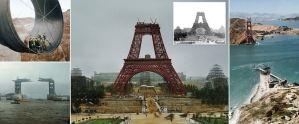 Las fotos de los monumentos más famosos del mundo durante el proceso de construcción