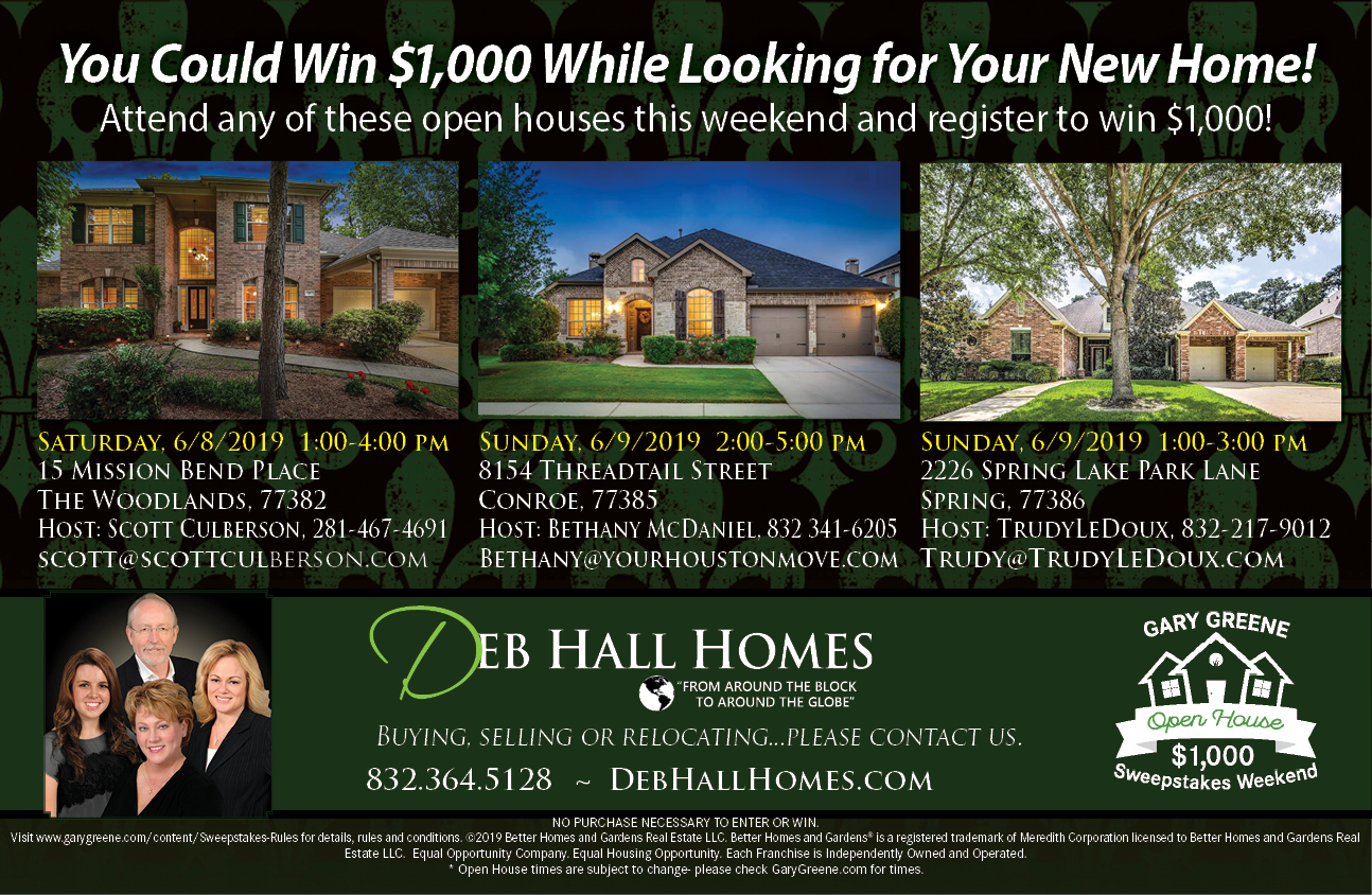Open House Sweepstakes This Weekend! Register for the Chance