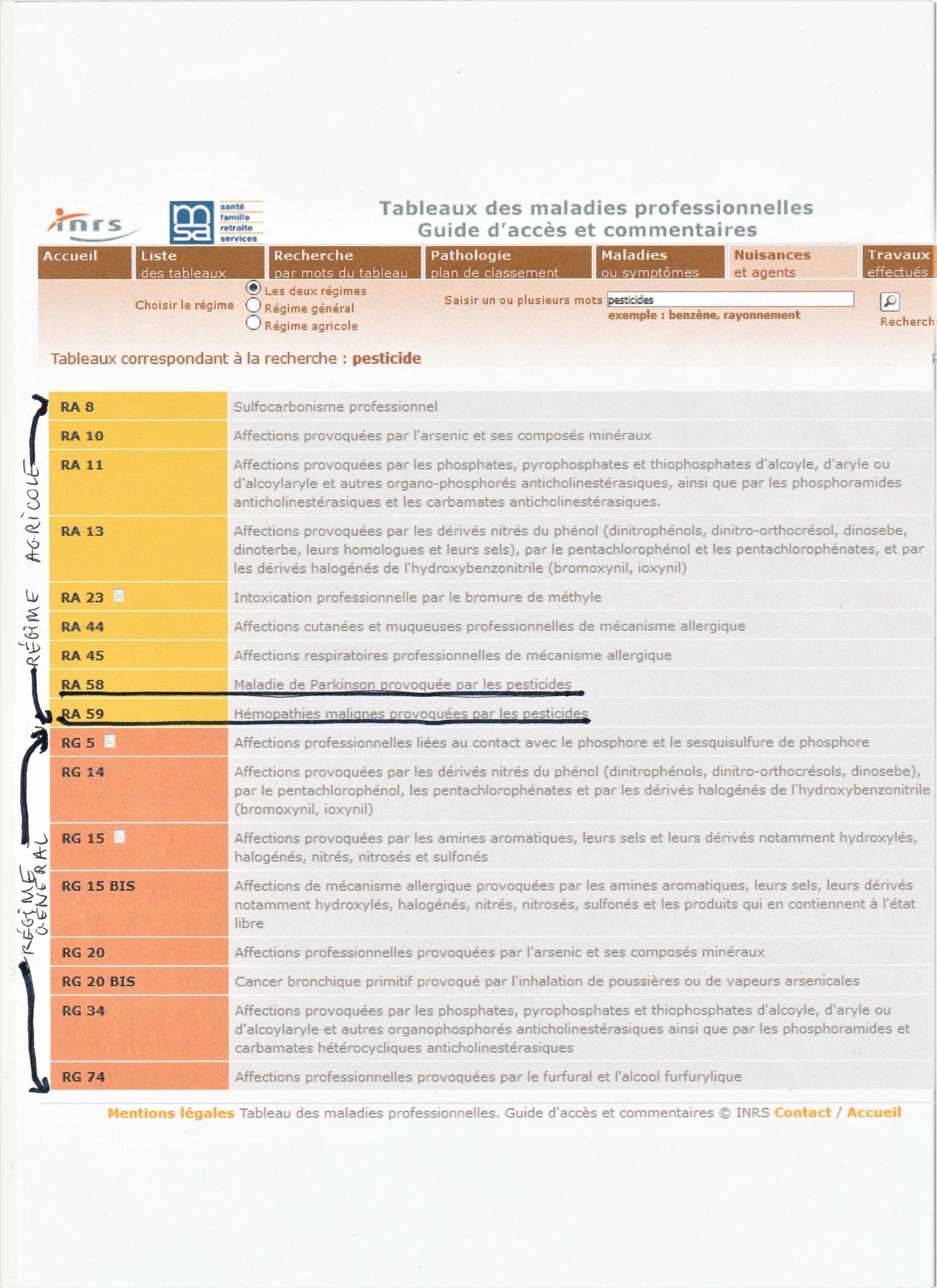 Maladies professionnelles MSA     Debiocidons