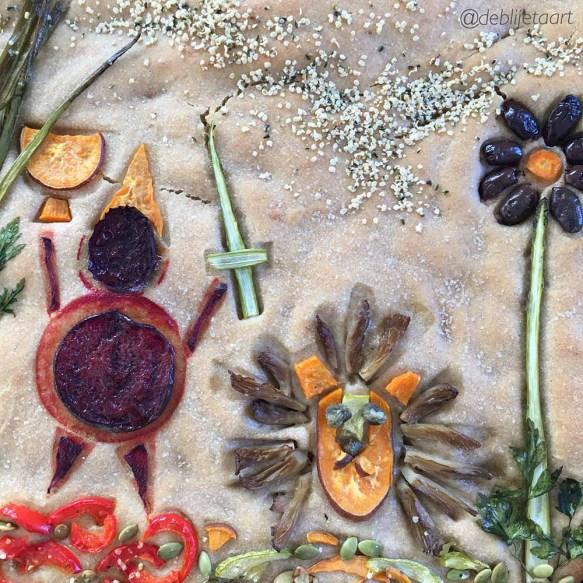 focaccia a la peronniek, recept, de blije taart, blog, fabiana toni, verhaal, vrijeschool verhalen, lente, gezond, vegan
