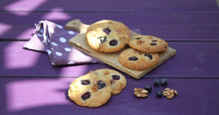 Cookies aux myrtilles et noix du Dauphiné