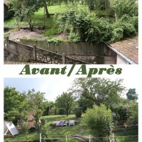 Avant/ Après: Ce qui est devenu un jardin
