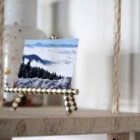 Mini porte-photos en paille en carton
