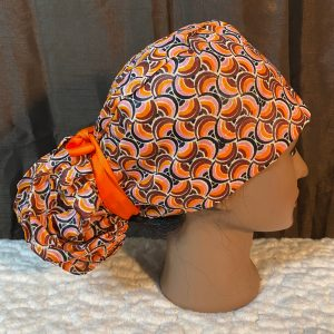 orange African scrub cap