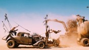A Nux Car targeting the fuel reserve of Imperator Furiosa's rig