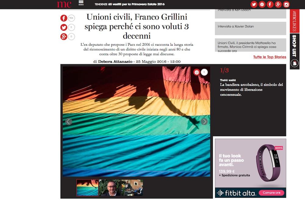 Unioni civili, Franco Grillini racconta la lunga storia