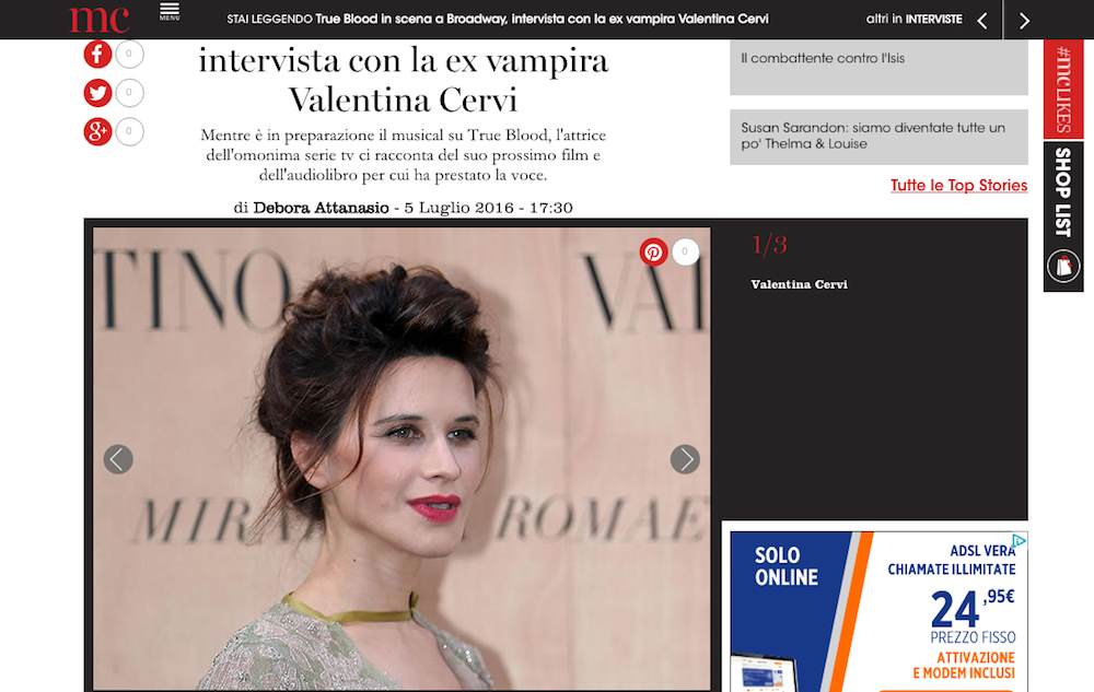 True Blood, intervista a Valentina Cervi