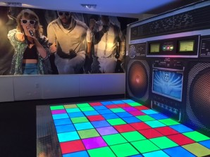 The upstairs section of the exhibit featured an interactive dance floor.