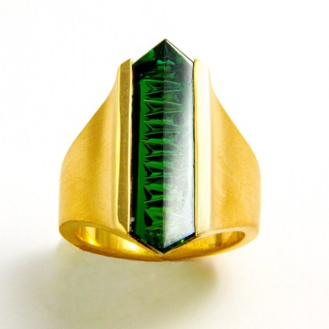 Green Tourmaline Ring 2016 Private Collection Deborah Aguado