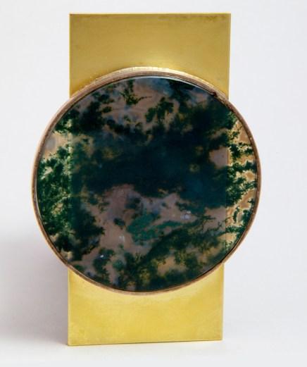 Aguado Moss Agate Pin