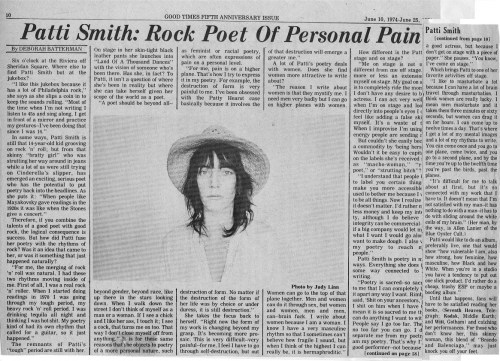 Patti Smith interview 2