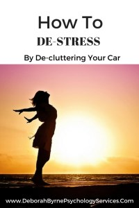 how to destress by decluttering your car DBpsychology