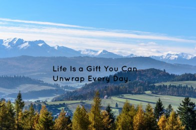 Life Is a Gift You Can Unwrap Every Day.