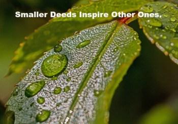 Smaller Deeds Inspire Other Ones.