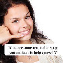 What are some actionable steps you can take to help yourself DBpsychology