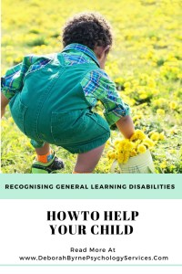 Recognising General Learning Disabilities