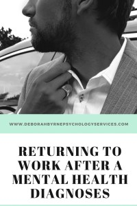 returning to work after a mental health disgnoses