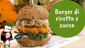 burger di ricotta e zucca