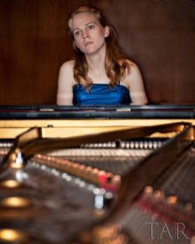 Deborah Grimmett, warming up pre-concert