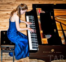 Canadian pianist performing shot