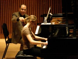 Deborah Grimmett playing for Philippe Cassard
