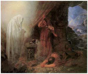 Samuel 28 saul-and-the-witch-of-endor-edward-henry-corbould