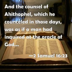 2 Samuel 16 23