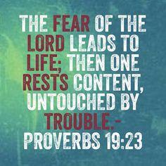 Proverbs 19 23