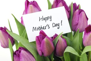 Happy Mothers Day Card and Flowers