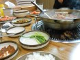 So many side dishes but they were all so spicy!