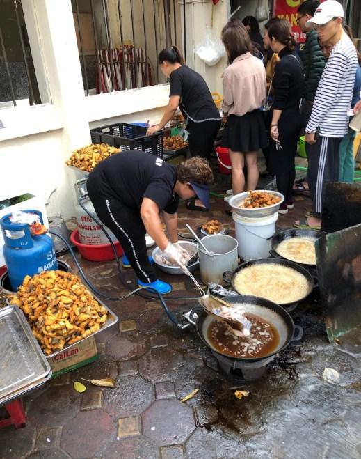 Hanoi street food Bun Cá Hanh Béo