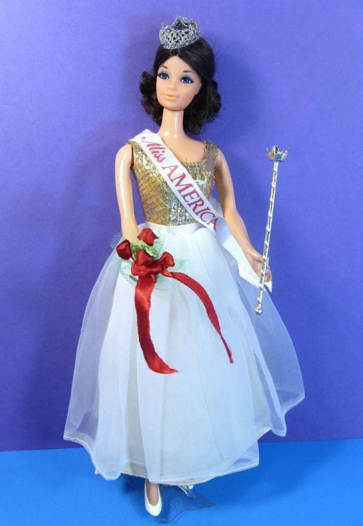 The Miss America Barbie, a barbie in the epic competition of barbies vs baby dolls.