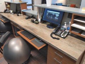 Front Desk Laminate Top