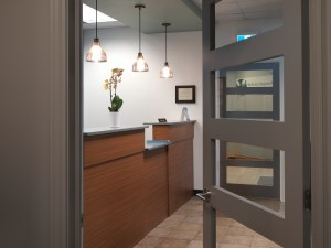 Dental Reception Area Pendant Lights