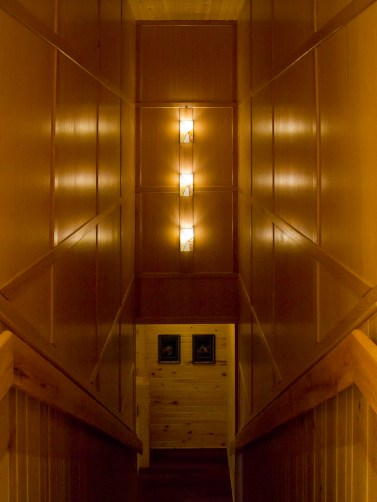 Very tall wall over stairs - solution: 3 wall lights
