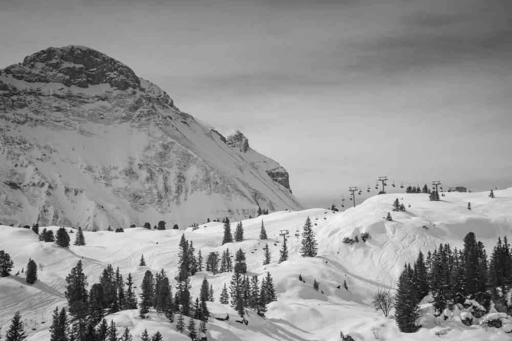 black and white mountains alps austria
