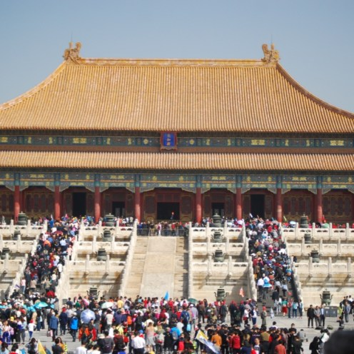 People going into Forbidden City