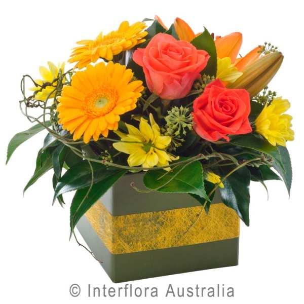 MINI BOX ORANGE PETITE MINI BOX IN ORANGE AND YELLOW TONES AUS340