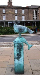 Seagull Sculpture outside The Royal George Hotel