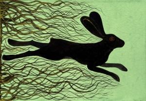 The Black Rabbit of Inlé painting