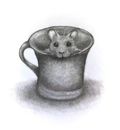 mouse in a cup drawing - finding creative inspiration