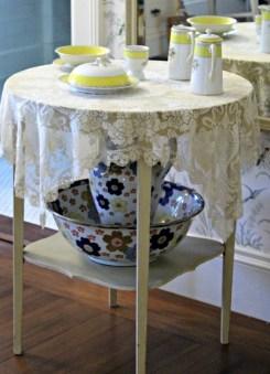 Breakfast Set in Augustine Van Wickle's Bedroom