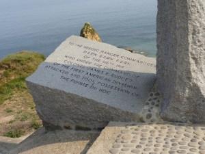 Ranger memorial at Pont du Hoc in Normandy, France