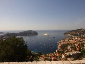 view of Nice harbor from Haute corniche