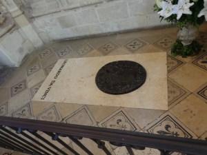 Leonardo da Vinci's tomb at the Château of Amboise
